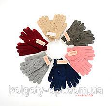 Зимние перчатки букле женские сенсорные