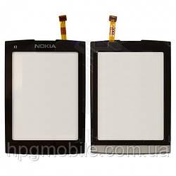 Сенсорный экран для Nokia X3-02, черный, оригинал