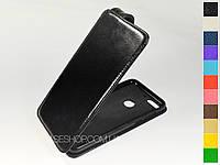 Откидной чехол из натуральной кожи для HTC Desire 12 Plus