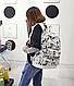 Рюкзак молодежный Черно-Белые Совята Набор 3 в 1, фото 4