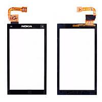 Touchscreen (сенсорный экран) для Nokia X6-00, черный, оригинал