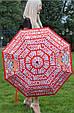 Зонт складной полу-автоматический Moschino Toy Bear красный, фото 2