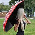 Зонт складной полу-автоматический Moschino Toy Bear красный, фото 3