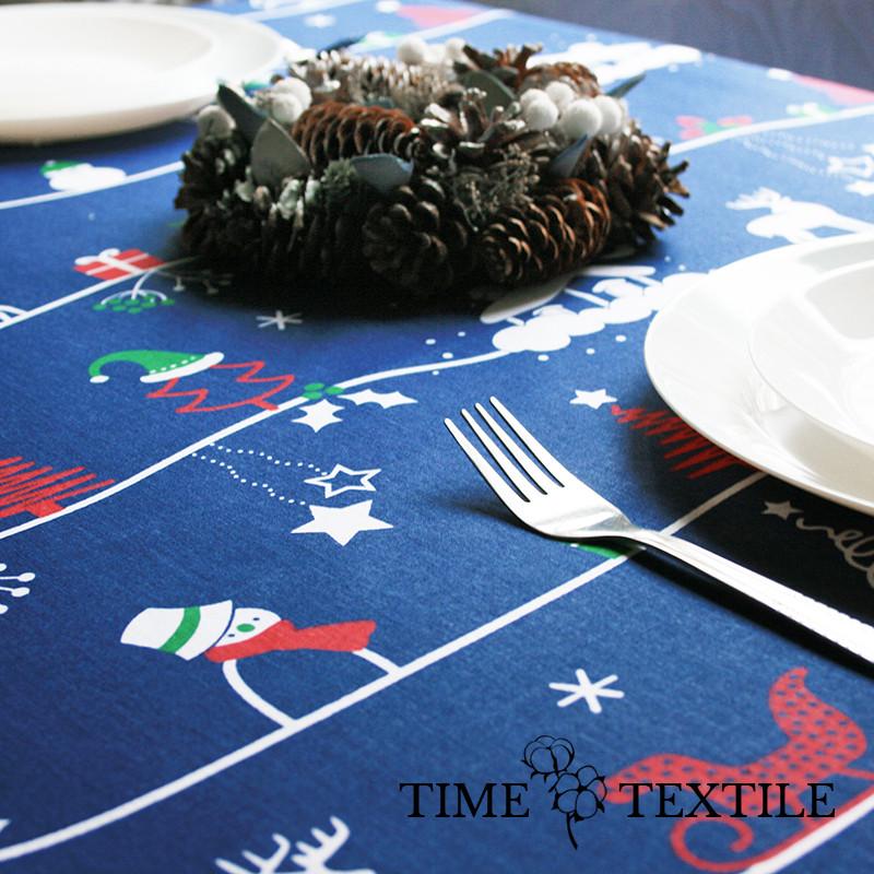 Новогодняя скатерть Time Textile New Year синяя