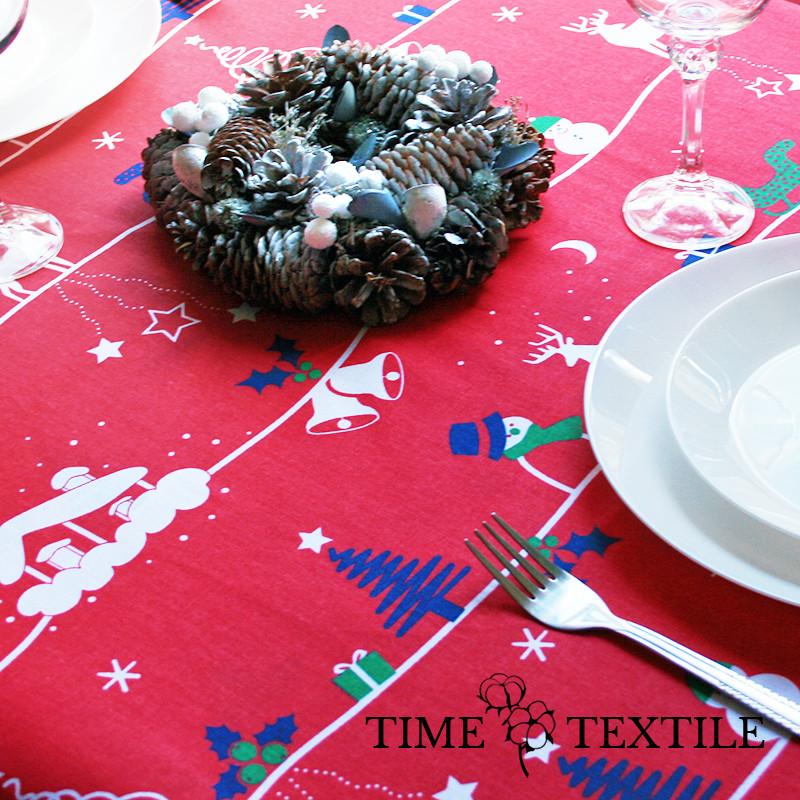 Новогодняя скатерть Time Textile New Year красная