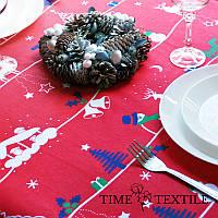 Новогодняя скатерть Time Textile New Year красная, фото 1
