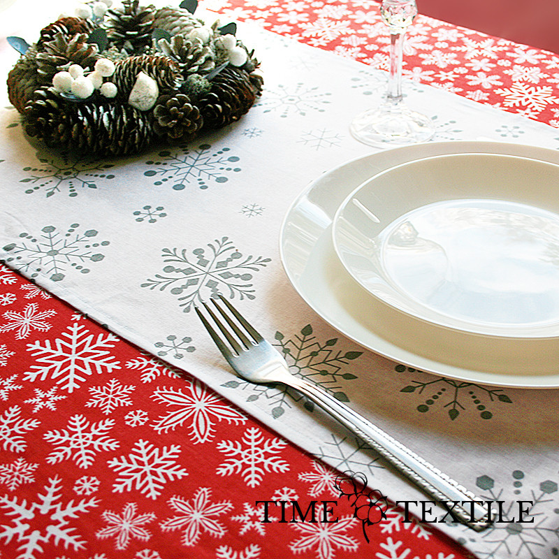 Новогодняя скатерть Time Textile Let It Snow