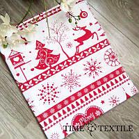 Новогодняя скатерть Time Textile Little Christmas красная, фото 1