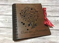 Деревянная обложка для фотоальбома Весільний Альбом (А4 формат) (тиковое дерево)