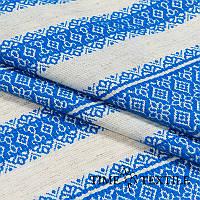 Вышитая скатерть в украинском стиле голубая, фото 1