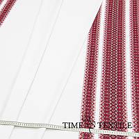 Вышитая скатерть в украинском стиле Time Textile красная