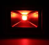 Светодиодный прожектор LED 30Вт 620-630nm (красный), IP65, фото 2