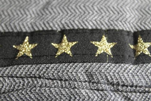 """Лосины подросток с карманами """"Звёзды"""" (от 6 до 9 лет) начёс, фото 2"""