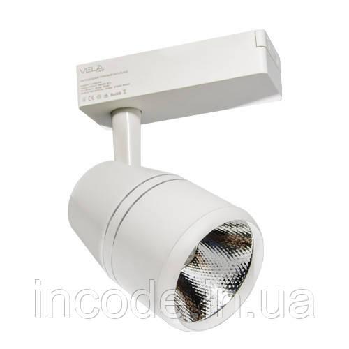 Трековый LED светильник VL-COB-206L 20W 3000К белый