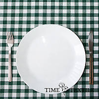 Скатерть Time Textile Клетка Зеленая 1,5 см, фото 1
