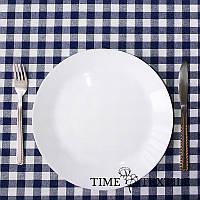 Скатерть Time Textile Клетка Синяя 1,5 см, фото 1