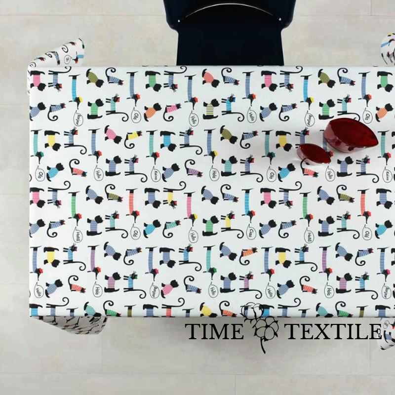 Скатерть Time Textile с акриловой пропиткой Animals