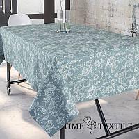 Скатерть Time Textile с акриловой пропиткой Dupre Серо-голубая, фото 1