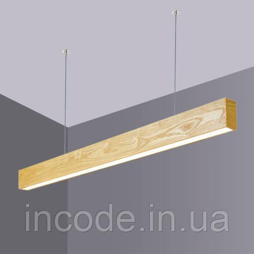 Деревянный LED светильник Vela Viga 30Вт ( Ясень )