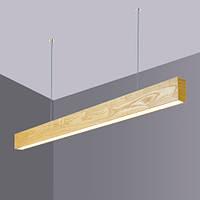 Деревянный LED светильник Vela Viga 30Вт ( Ясень ), фото 1