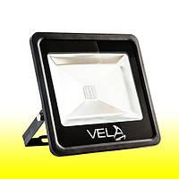 Светодиодный прожектор LED 50Вт 560-600nm (желтый), IP65, фото 1