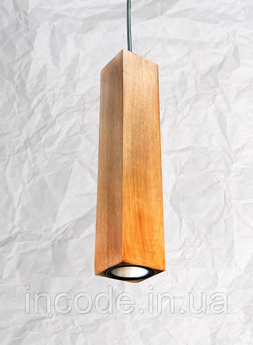 Подвесной светильник из дерева Vela Сube Oak 7 Вт 670 Лм