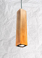 Подвесной светильник из дерева Vela Сube Oak 7 Вт 670 Лм , фото 1