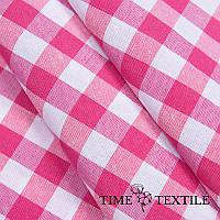Скатерть Time Textile Клетка розовая 1,5 см, фото 1