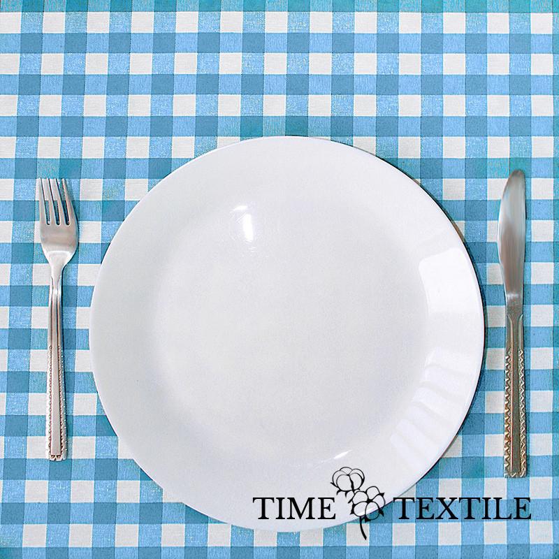 Скатерть Time Textile Клетка голубая 1,5 см