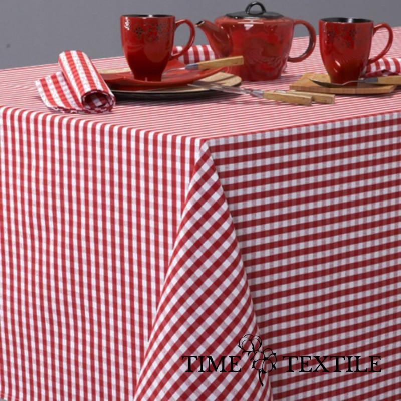 Скатерть Patinir Rojo Time Textile Клетка красная 0,5 см