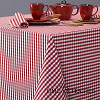 Скатерть Patinir Rojo Time Textile Клетка красная 0,5 см, фото 1