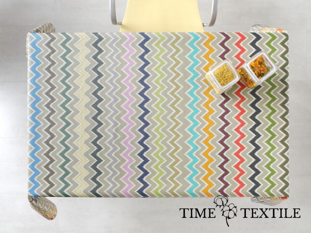 Скатерть с акриловым покрытием Time Textile Zig-Zag