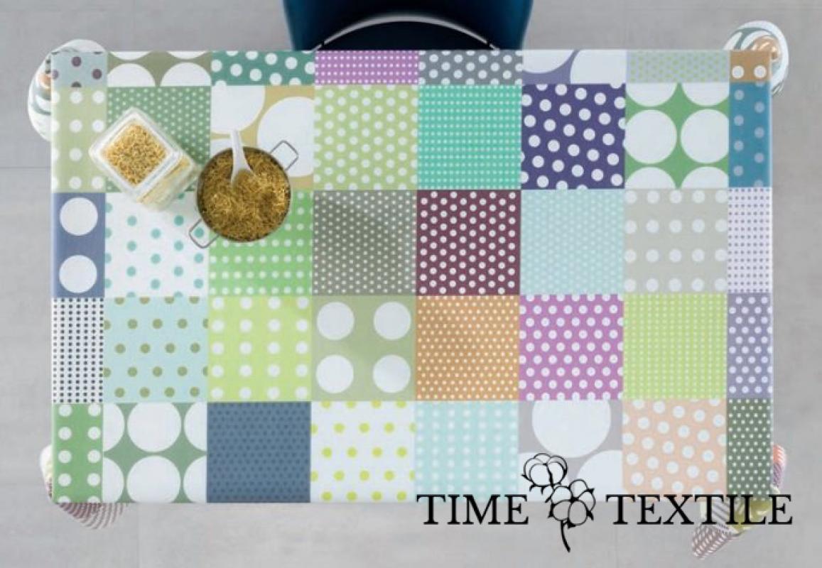 Скатерть с акриловым покрытием Time Textile Patchwork Dots