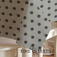 Скатерть в горошек Van Gogh Grey Time Textile с акриловой пропиткой, фото 1