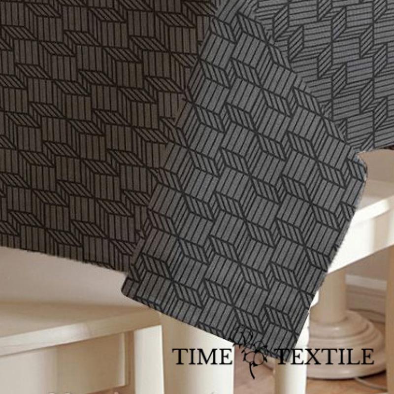 Скатерть с геометрическим принтом Kupka Grey Time Textile с акриловой пропиткой