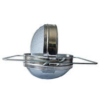 Фильтр для мёда D-200 мм нержавеющей двухсекционный выпуклый, фото 1