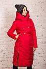 Удлиненное пальто для девушек на зиму сезон 2020 - (модель кт-700), фото 3