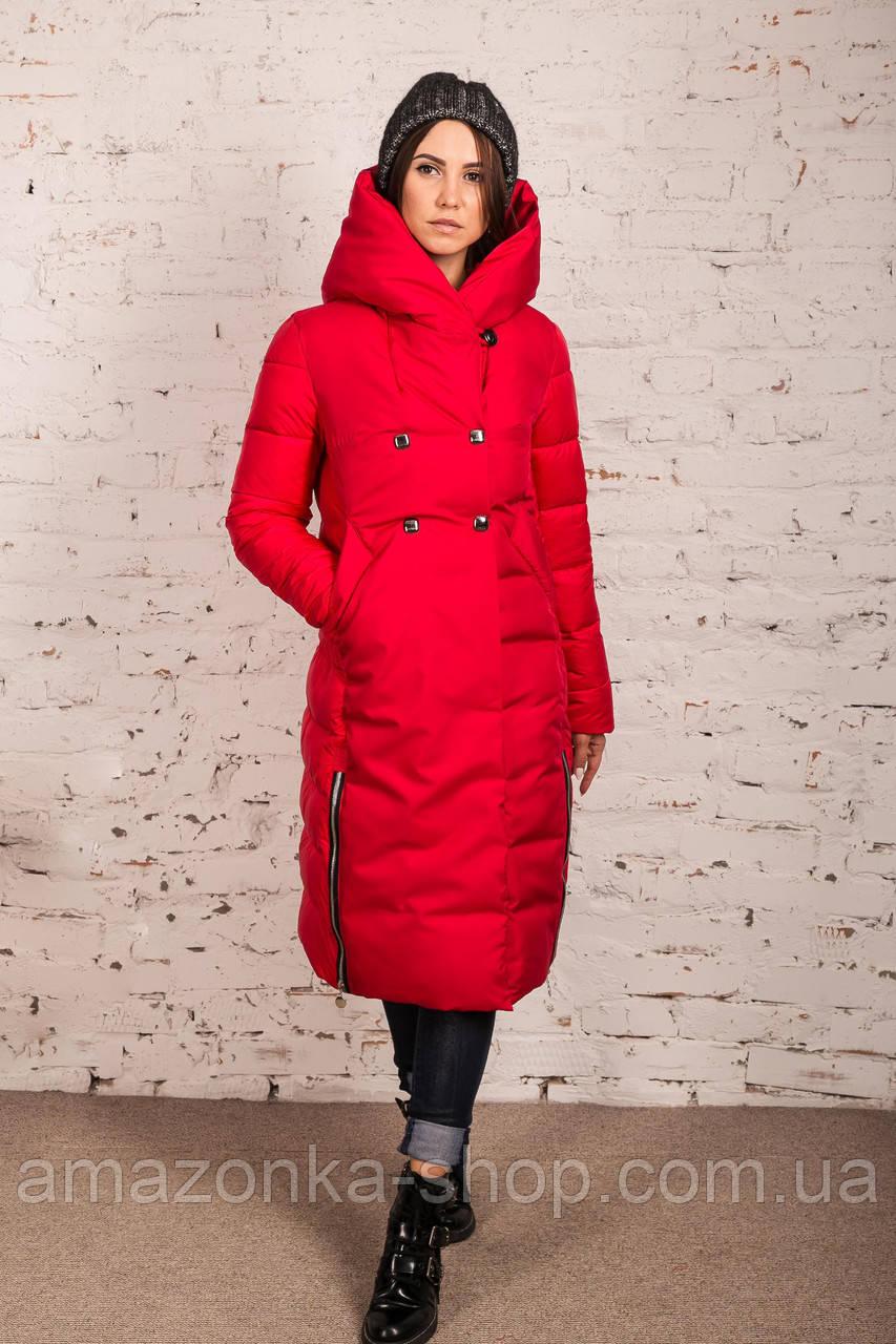Удлиненное пальто для девушек на зиму сезон 2020 - (модель кт-700)