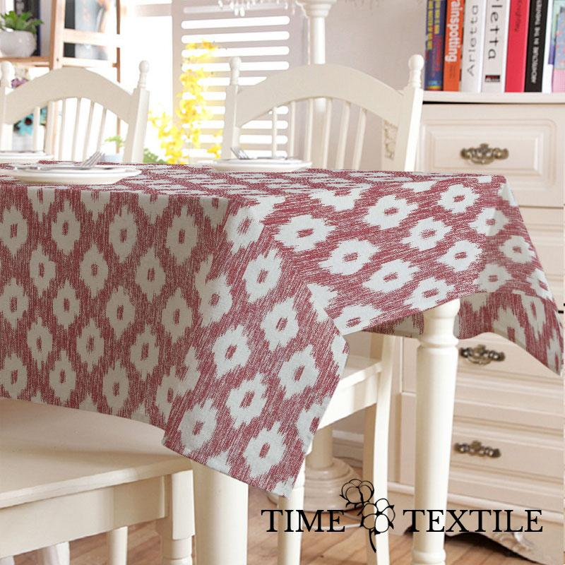 Скатерть с акриловым покрытием Time Textile Barcelo Garnet