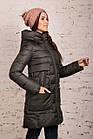 Пальто для женщин на зиму с экопухом сезон 2020 - (модель кт-698), фото 2