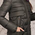 Пальто для женщин на зиму с экопухом сезон 2020 - (модель кт-698), фото 3