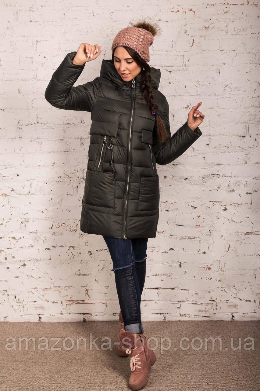 Пальто для женщин на зиму с экопухом сезон 2020 - (модель кт-698)