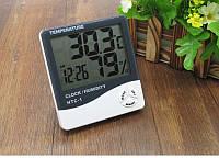 Термогигрометр Generic HTC-1 часы будильник метеостанция (Уценка, не работает)