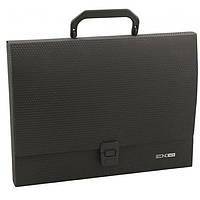 Портфель офисный E31607-01 A4 Economix -черная папка пластик 1отдел