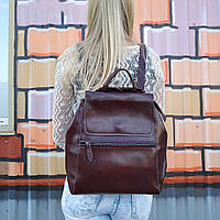 """Женский кожаный рюкзак-сумка(трансформер) """"Жозефина Brown"""""""