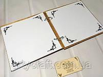 Свадебная книга пожеланий в деревянной обложке (№2) (дуб), фото 5