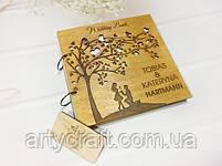 Свадебная книга пожеланий в деревянной обложке (№2) (дуб), фото 2