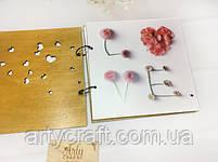 Свадебная книга пожеланий в деревянной обложке (№2) (дуб), фото 4