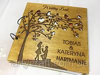 Свадебная книга пожеланий в деревянной обложке (№2) (дуб), фото 3