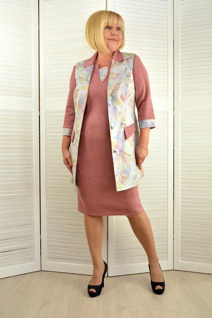 Комплект: Платье и жилет - Модель 1443-4+1440-5